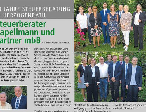 50 Jahre Steuerberatung in Herzogenrath