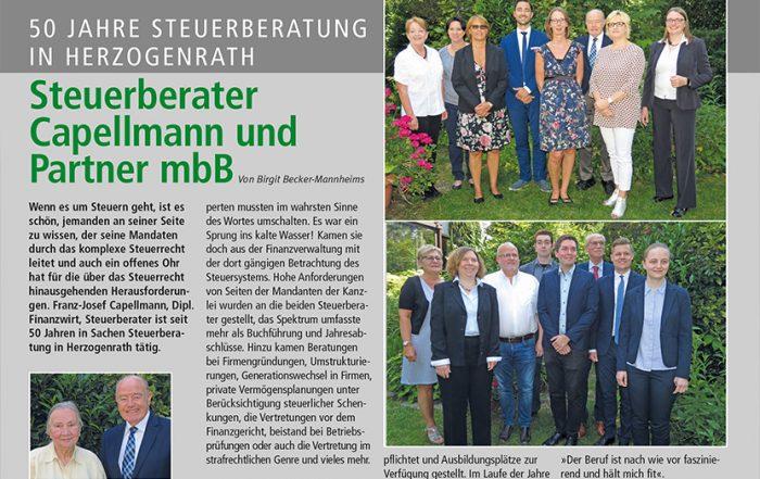 Bild 50 Jahre Steuerberatung in Herzogenrath