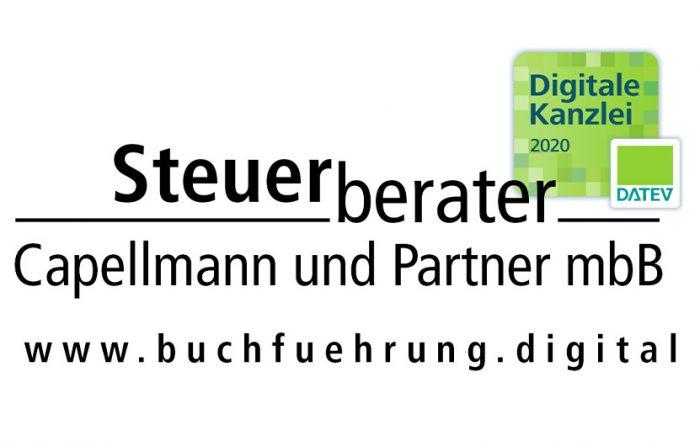 steuerberater capellmann logo mit digitale kanzlei 2020 zertifikat