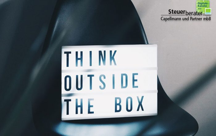 """Think outside the box"" Foto - Steuerberater Capellmann"